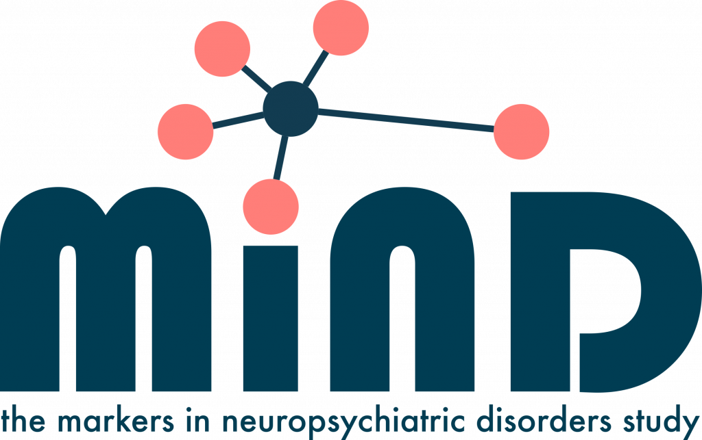 Logo for MiND: the markers in neuropsychiatric disorders study